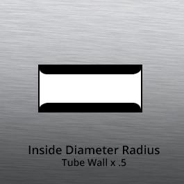 Tube End forming - tube end forming - inside diameter radius