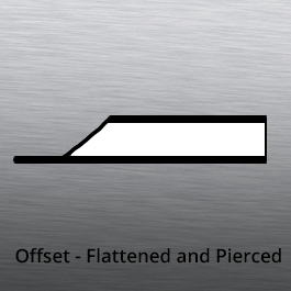 Tube End forming - offset flattened and pierced